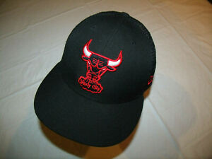 Chicago Bulls All Black, Mesh Back Hat New Era Hardwood Classic Men's Snapback