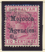Great Britain, Offices In Morocco Stamp Scott #2, Used