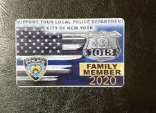 2020 NYPD CUSTOM SUPPORT POLICE CARD FOR COLLECTION HOMEADE CARDS. NOT PBA.