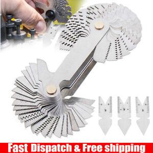 4Pcs Screw Thread Pitch Cutting Gauge Tool Set Centre Gage 55°&60° Inch & Metric