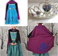 Hot Robe Déguisement Costume La Reine des Neiges Frozen Elsa Anna Enfant Fille*&