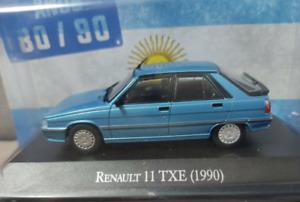 Coche Renault 11 TXE Phase 2 (1990) - Autos Inolvidables Argentinos - Esc. 1/43