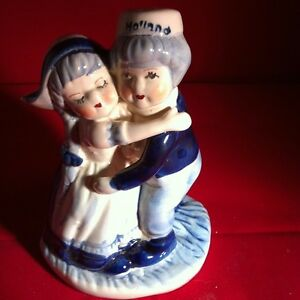 Delft Blue Porcelain Hand painted Farmer and Wife