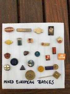 Vintage European advertising Badge Lot