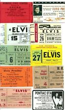 Elvis Presley Facsimile/Reprint Concert Ticket Lot of 17 Different Stubs!