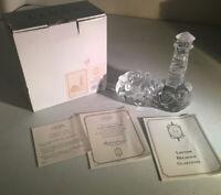 "LENOX Crystal LIGHTHOUSE VOTIVE CANDLE HOLDER 6 1/4"" Lead Crystal Czeck Republic"
