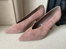 Next Signature Pink Faux Suede Classy Heels Size 7