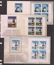 Latvia 3 Lighthouses, Mi#621, 645, 685 (Markenheftchen), MNH**, OG, VF