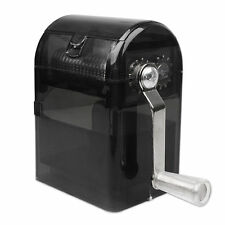 NEW Hand Crank Crusher Tobacco Cutter Grinder Muller Shredder Smoking Case Black