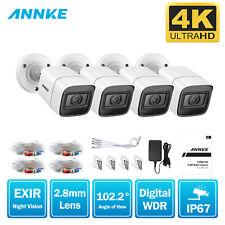 ANNKE 4x 4K 8MP CCTV Security Camera IP67 IR Night Vision Outdoor Indoor HD TVI