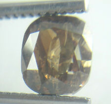2.00Cts Natural Cushion Transparent Cognac Red Color Solitaire Diamond