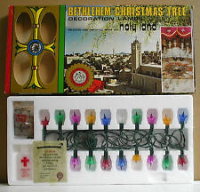 BETHLEHEM CHRISTMAS TREE LAMPS JORDAN HOLY WATER AND SOIL FROM THE HOLY LAND NIB