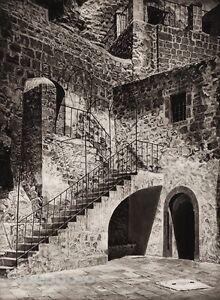 1925 Vintage MAR SABA Stone Architecture ISRAEL Palestine Religion Photo Art