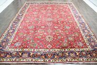 Traditional Vintage Persian Wool  8.3 X 11.2 Oriental Rug Handmade Carpet Rugs