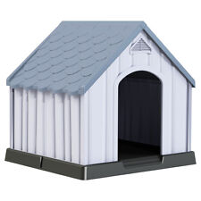 Plastic Dog House Medium-Sized Shelter for Pets Puppy Waterproof Ventilate