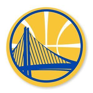 Golden State Warriors Round  (Gold)  Decal / Sticker Die cut