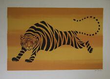 """""""Le tigre"""" Lithographie signée DE CARLO Llewellyn"""