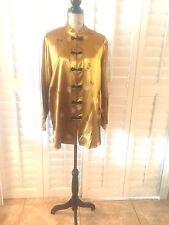 NOTATIONS Women's  GOLD  Asian Blouse Mandarin Collar Size 1X