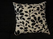 "X2 CATHERINE LANSFIELD BLACK EMBROIDERED CUSHION COVER size18"" x 18""  RRP £14.99"