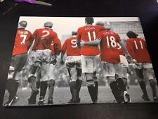 "Manchester United #MUFC Legends Canvas Print (26""x18"")"