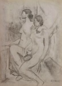 André LHOTE French cubist drawing painting naked woman nude model studio modern
