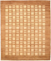 8X10 Hand-Knotted Gabbeh Carpet Tribal Brown Fine Wool Area Rug D28786