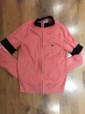 LADIES PINK KNITTED ZIP UP CARDIGAN SIZE 36 (S) *LACOSTE SPORT*