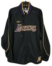 Authentic Reebok Los Angeles Lakers Warm Up Jacket Jersey Shooting Shirt Men Med