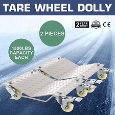 """2pcs Positionnement chariot déplacement de pneu automobile 12x16"""" 1500Lbs"""