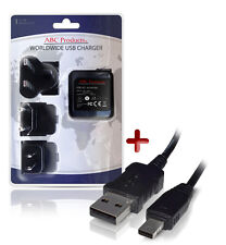Casio EXILIM EX-ZR15/EX-ZR20 Caricabatteria USB AD-C53U Fotocamera digitale