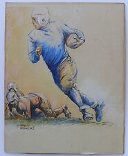 College Football Original Art by Grant Powers, Chalk on board, 1940's