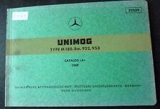 Mercedes Unimog M180 Motoren Ersatzteilkatalog