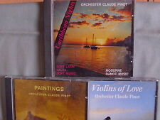 Orchester Claude Pinot- Violins of Love/Paintings/Caribbian Nights- 3CDs WIE NEU