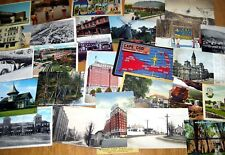 Lot of 40 Vintage postcards, Random cards from the 1910s to '70s, Original