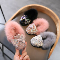 Girls Fashion Warm Shoes Toddler Infant Kids Baby Tassel Crystal Princess Shoes