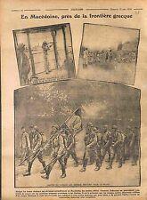 Macedonia Macedoine Poilus Serbia Army Flag Armée d'Orient 1916 WWI