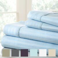 Soft Essentials Ultra Soft 4 Piece Stripe Sheet Set