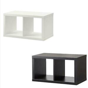 ikea 2x1 kallax storage shelving bookcase display unit white 77x42