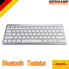 Slim Bluetooth Tastatur Wireless für iPhone iPad Apple Mac Laptop PC DE