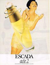 PUBLICITE ADVERTISING 035  1996  ESCADA  parfum femme ACTE 2
