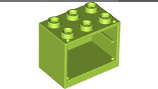2 Lego Lime Container, Cupboard 2 x 3 x 2