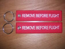 EMIRATES AIRLINES RED Remove Before Flight baggage tag keychain Aviadirect®