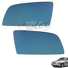 Spiegelglas blau heizbar für Aussenspiegel rechts+links Set Satz BMW 5er E60 E61