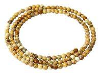 😏 Landschaftsjaspis Perlen 3 mm Kugeln feine Saatperlen Jaspis Strang Spacer 😉