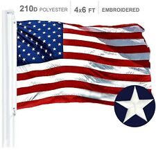 G128 – American Flag US USA | 4x6 ft | Embroidered Stars, Sewn Stripes
