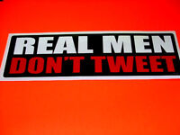 REAL MEN  : Bumper Sticker Car Truck Window UV Vinyl Decal Sticker