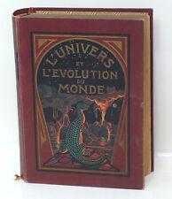 LIVRE L UNIVERS ET L EVOLUTION DU MONDE D APRES GUST ET RITTER 1903