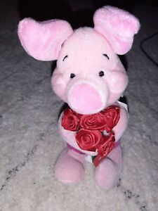 "Disney Store Winnie the Pooh *PIGLET FOR MY NEW TEACHER* Back to School 8"" Plush"