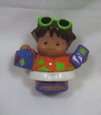 Fisher Price Little People TOURIST VACATION BOY Suitcase Phone Sunglasses #2