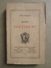 Louis VEUILLOT : OEUVRES POETIQUES, 1878. E.O.